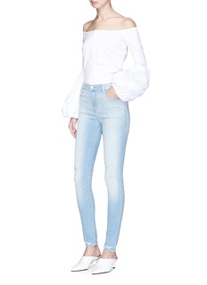 J Brand 'Maria' ripped high rise skinny denim pants