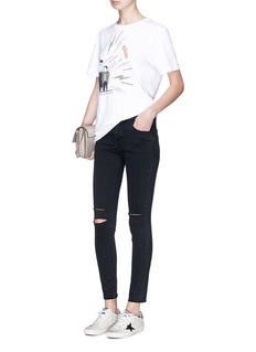 J Brand '8227' ripped stretch skinny denim pants