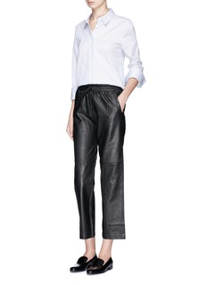 J Brand 'Amari' cropped lambskin leather pants