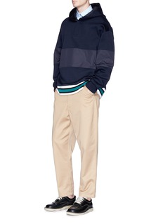 Marni Woven panel hoodie