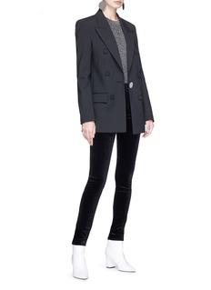 J Brand 'Maria' high rise skinny velvet pants