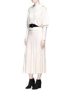 Sonia Rykiel Mixed rib knit midi skirt