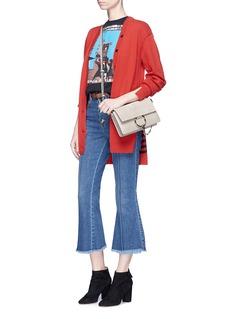 Sonia Rykiel Stripe back staggered hem oversized cardigan