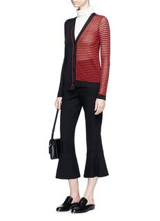 Sonia Rykiel Asymmetric hem contrast stripe cardigan