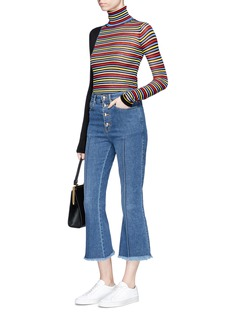Sonia Rykiel Pintuck flare cropped jeans