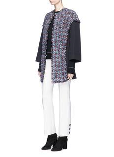 Sonia Rykiel Twill panel tweed coat