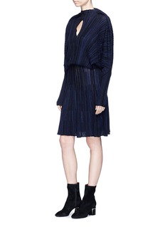 Sonia Rykiel Keyhole front batwing sleeve rib knit dress