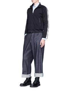 Dries Van Noten 'Hakeem' zip sleeve cropped track jacket
