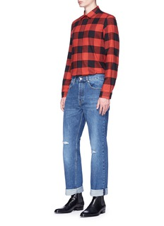 Dries Van Noten Straight leg ripped jeans