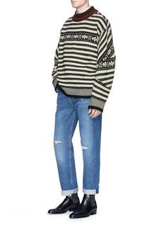Dries Van Noten 'Talbot' Fair Isle jacquard wool sweater