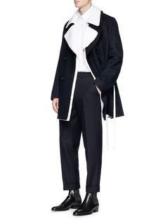 Dries Van Noten 'Raphael' sash tie cotton-linen coat