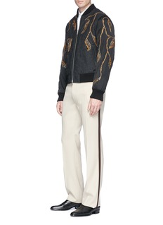 Dries Van Noten 'Vinny' embellished reversible quilted bomber jacket