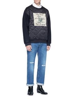 Dries Van Noten 'Hexton' print quilted satin sweatshirt