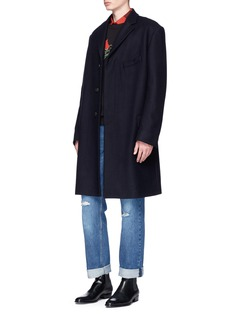 Dries Van Noten 'Riot' felted wool blend oversized coat