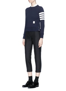 Thom Browne Tuxedo stripe wool-mohair cropped suiting pants