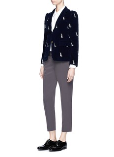 Thom Browne Penguin embroidered corduroy blazer