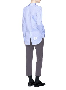 Thom Browne Oversized reverse cotton poplin shirt