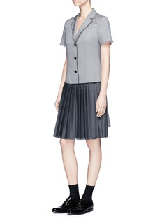 Thom Browne Pleated panel wool twill dress