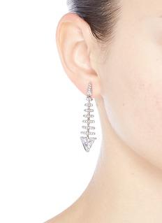 CZ by Kenneth Jay Lane 'Trend' cubic zirconia fishbone drop earrings
