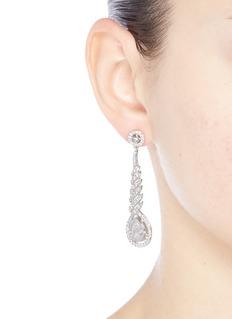 CZ by Kenneth Jay Lane Spiral cubic zirconia pear drop earrings