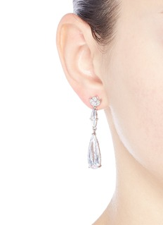 CZ by Kenneth Jay Lane 'Deco' cubic zirconia teardrop link earrings