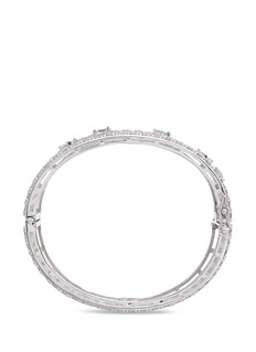 CZ by Kenneth Jay Lane Round and oval cut cubic zirconia bangle