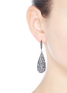 CZ by Kenneth Jay Lane Cubic zirconia teardrop earrings