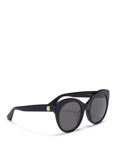 GucciOversized cat eye acetate sunglasses