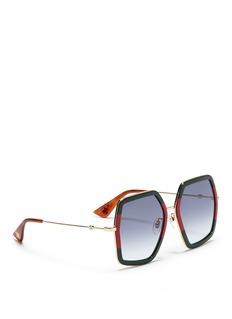 GucciAcetate oversized square sunglasses