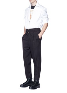 3.1 Phillip Lim Belted double pleated wool pants