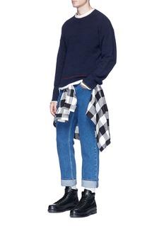 3.1 Phillip LimContrast trim chenille sweater