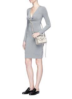 Rebecca Minkoff'Darren' grommet mini pebbled leather messenger satchel