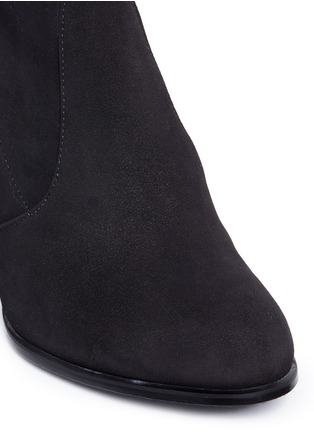 Detail View - Click To Enlarge - Stuart Weitzman - 'Hiline' stretch suede thigh high boots