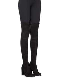 Stuart Weitzman 'Hiline' stretch suede thigh high boots