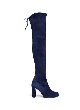 Main View - Click To Enlarge - Stuart Weitzman - 'Hi Line' stretch suede thigh high boots