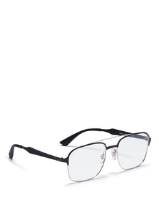 Ray-Ban 'RX6404' square metal optical glasses