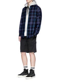 Alexander Wang  Tartan plaid wool twill shirt