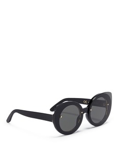 SUPER 'Rita' mounted cat eye acetate sunglasses