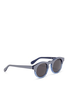 SUPER 'Boy Lamina' colourblock round acetate sunglasses
