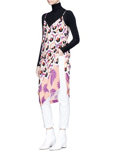 Dries Van Noten 'Deminga' geometric print silk crepe dress
