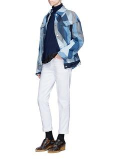 Dries Van Noten 'Vidale' zigzag patchwork denim jacket