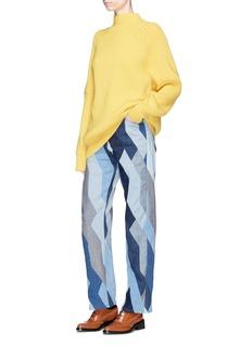 Dries Van Noten'Pisco' zigzag patchwork jeans
