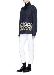 Dries Van Noten 'Cliver' sequin geometric motif poplin shirt