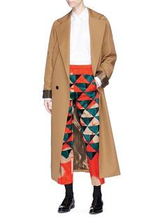 Dries Van Noten 'Pama' geometric print cropped pants