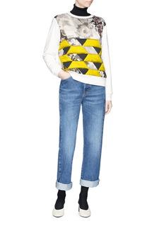 Dries Van Noten 'Hilborn' quilted floral geometric panel sweatshirt