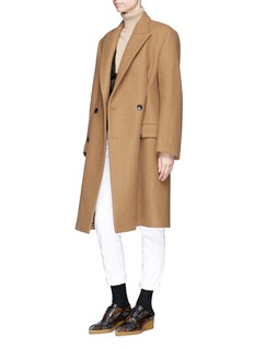 Dries Van Noten 'Ramada' oversized wool blend melton coat