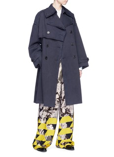 Dries Van Noten 'Resnick' belted cotton twill trench coat