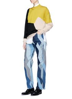 Dries Van Noten 'Tacey' colourblock Merino wool sweater