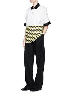 Dries Van Noten 'Curvali' geometric print poplin shirt