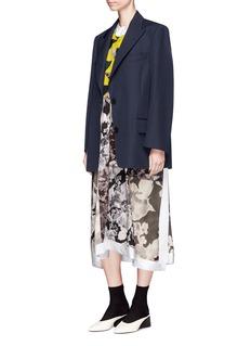 Dries Van Noten 'Barrow' oversized wool twill blazer